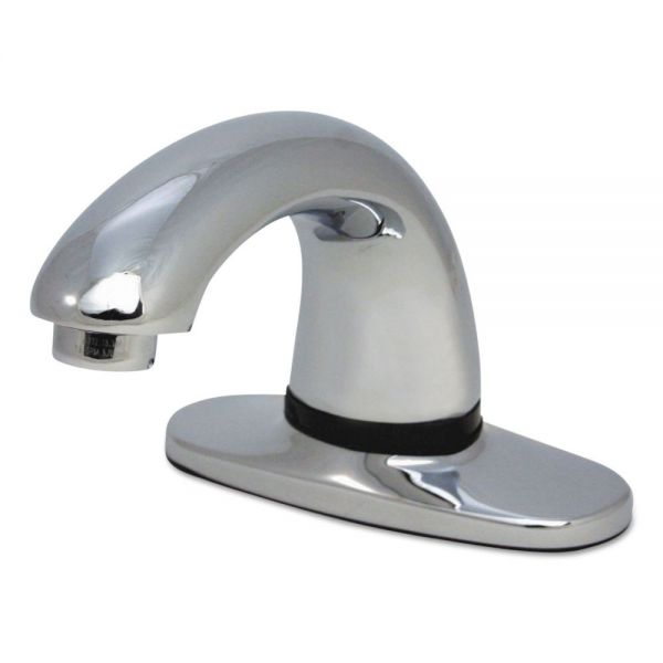 Rubbermaid Commercial Auto Faucet SST, Milano Design/Polished Chrome, Low Lead, 6 1/2 x 2 1/8 x 3 7/8