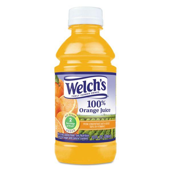 Welch's 100% Orange Juice, 10 oz., 24/Carton