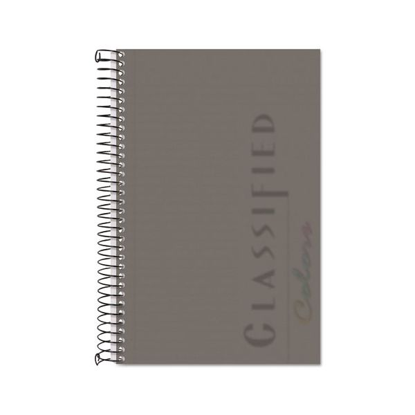 TOPS Color Notebook, Graphite Cover, 8 1/2 x 5 1/2, White, 100 Sheets