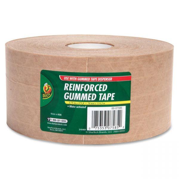 """Duck Brand Reinforced Gummed 2.75"""" Packing Tape"""