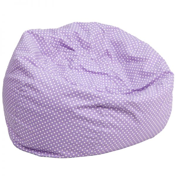 Flash Furniture Oversized Lavender Dot Bean Bag Chair
