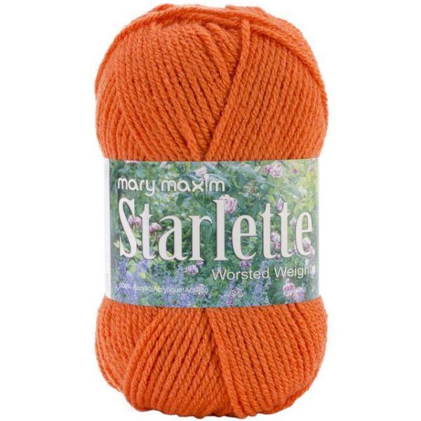 Mary Maxim Starlette Yarn - Burnt Orange