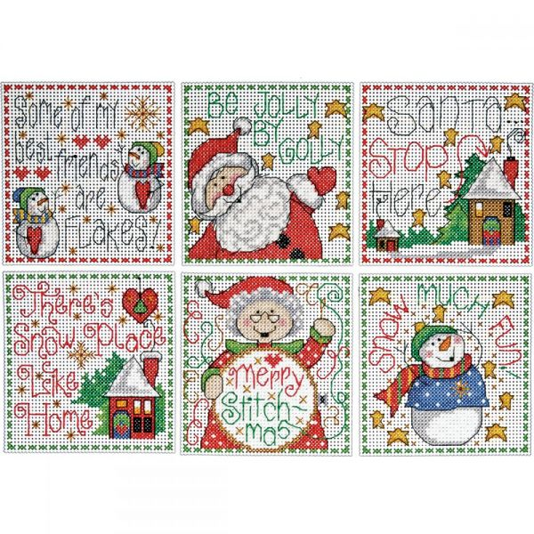 Merry Stitchmas Ornaments Counted Cross Stitch Kit