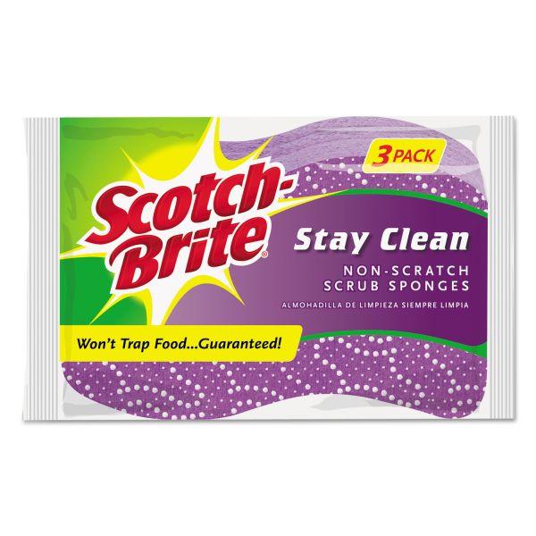 Scotch-Brite Stay Clean Non-Scratch Scrub Sponges