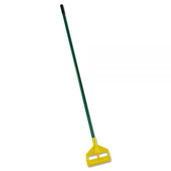 "Rubbermaid Commercial Invader Side-Gate Wet-Mop Handle, 60"", Green, Fiberglass"