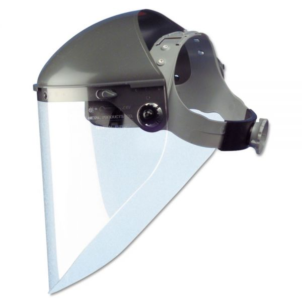 "Fibre-Metal by Honeywell High Performance Face Shield Assembly, 7"" Crown Ratchet, Noryl, Gray"