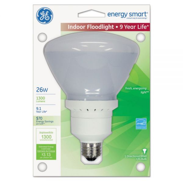GE Energy Smart Compact Fluorescent Light Bulb, Indoor Flood, 1300 lm, Soft White