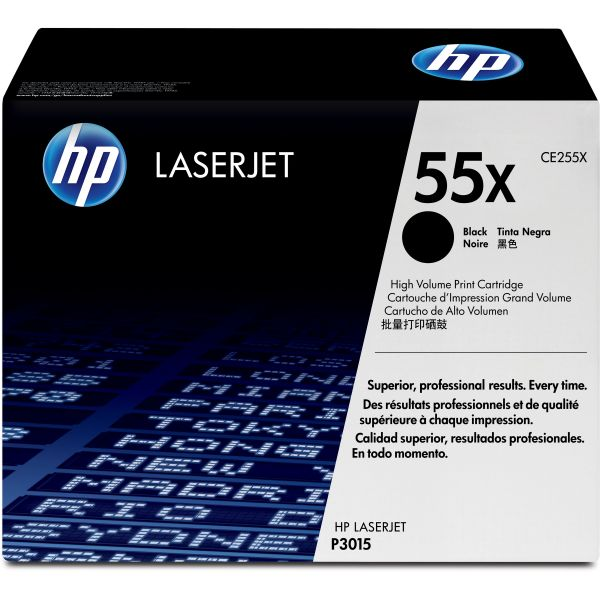 HP 55X Black High Yield Toner Cartridge (CE255X)