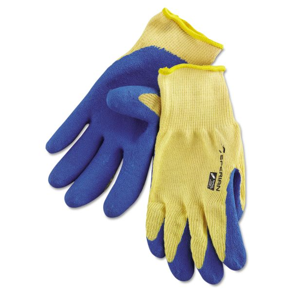Honeywell Tuff-Coat II Gloves, Blue/White, Large, Pair