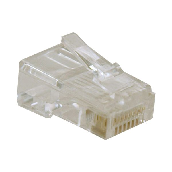 Tripp Lite RJ45 for Solid / Standard Conductor 4-Pair Cat5e Cat5 Cable 10 Pack