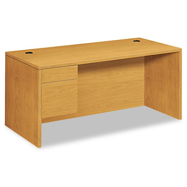 "HON 10500 Series Left Pedestal Desk | 1 Box / 1 File Drawer | 66""W"