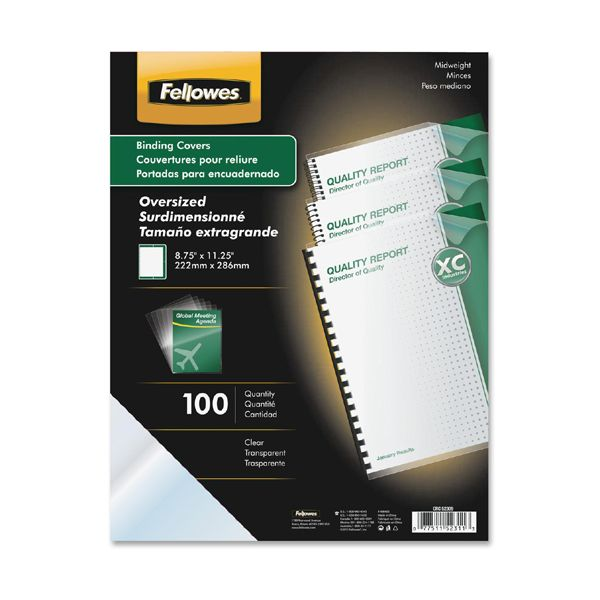 Fellowes Crystals Clear Oversized Binding Covers