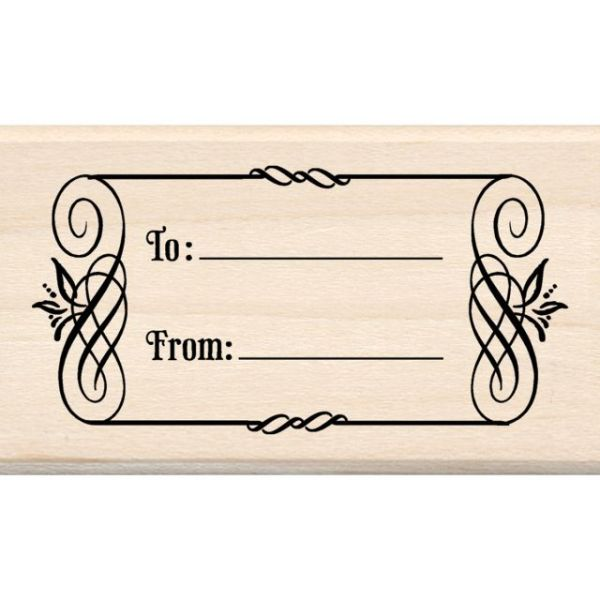 "Inkadinkado Mounted Rubber Stamp 1.75""X3"""
