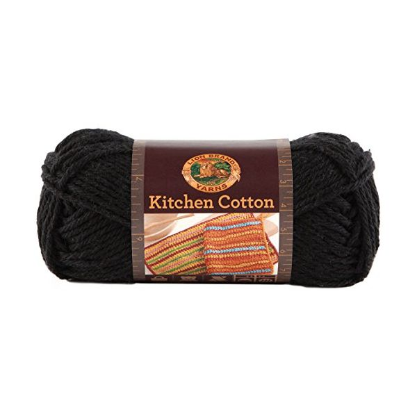 Lion Brand Kitchen Cotton Yarn - Licorice