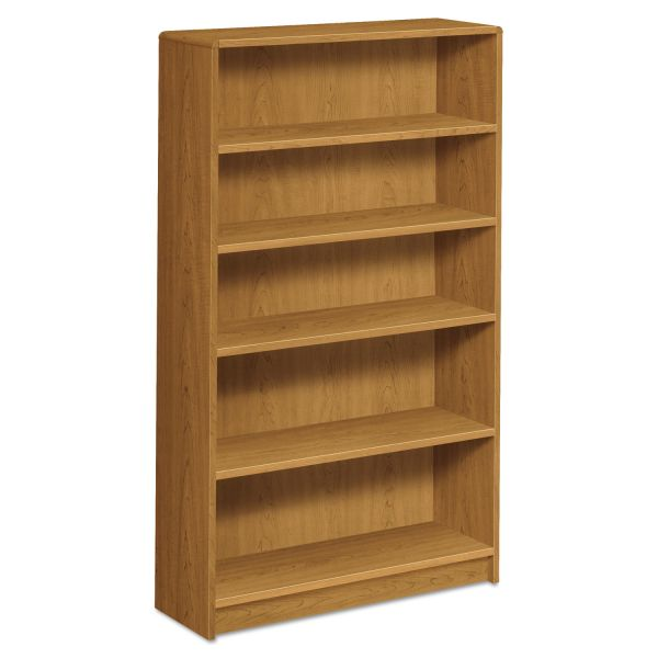 HON 1890 Series Bookcase, Five Shelf, 36w x 11 1/2d x 60 1/8h, Harvest