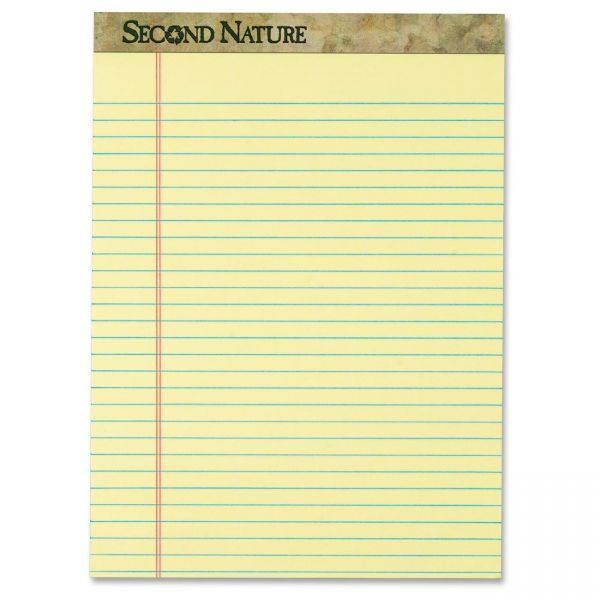 Second Nature Recycled Letter-Size Yellow Legal Pads