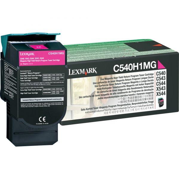 Lexmark C540H1MG Magenta High Yield Return Program Toner Cartridge