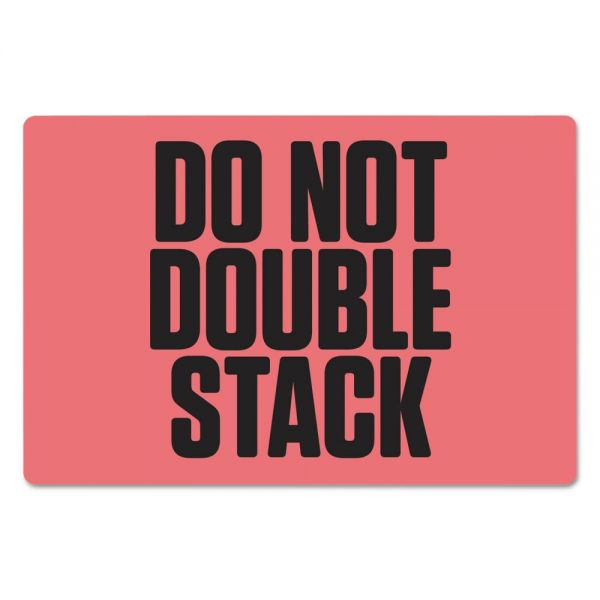 "PM Company Pre-Printed Shipping Labels, 6 x 4, ""DO NOT DOUBLE STACK"", 1000/Roll, 4 Rolls/CT"