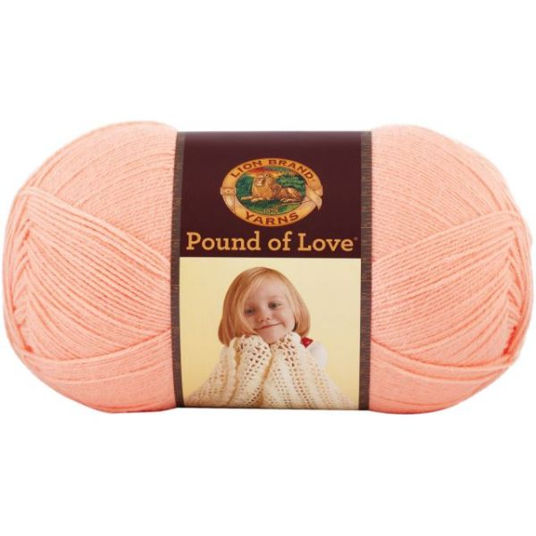 Lion Brand Pound Of Love Yarn - Creamsicle