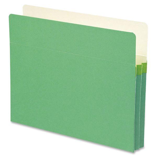 Smead TUFF Pocket Green Colored Expanding File Pocket