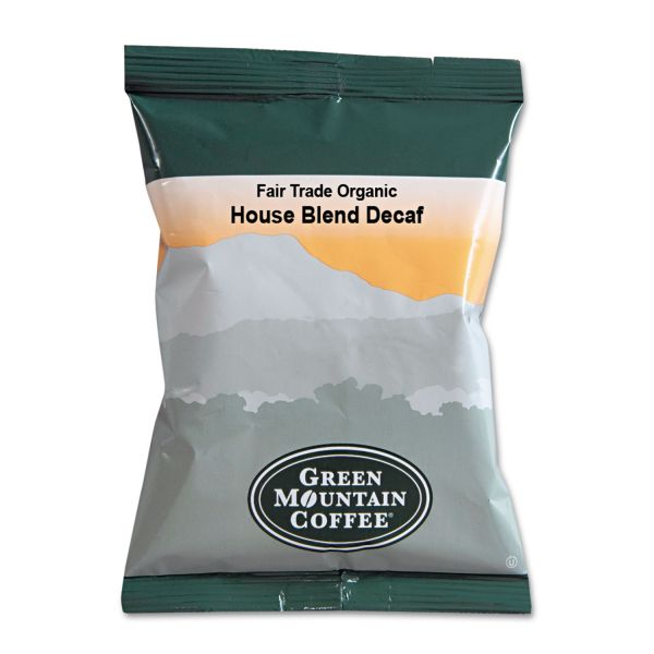 Green Mountain Coffee Fair Trade Organic House Blend Decaf Coffee Fraction Packs