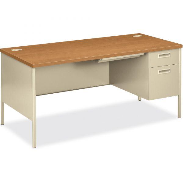 HON Metro Classic Right Pedestal Computer Desk