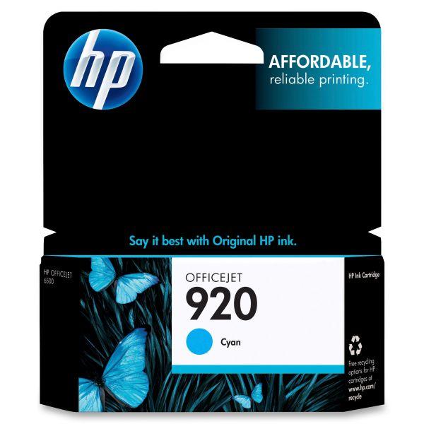 HP 920 Cyan Ink Cartridge (CH634AN)