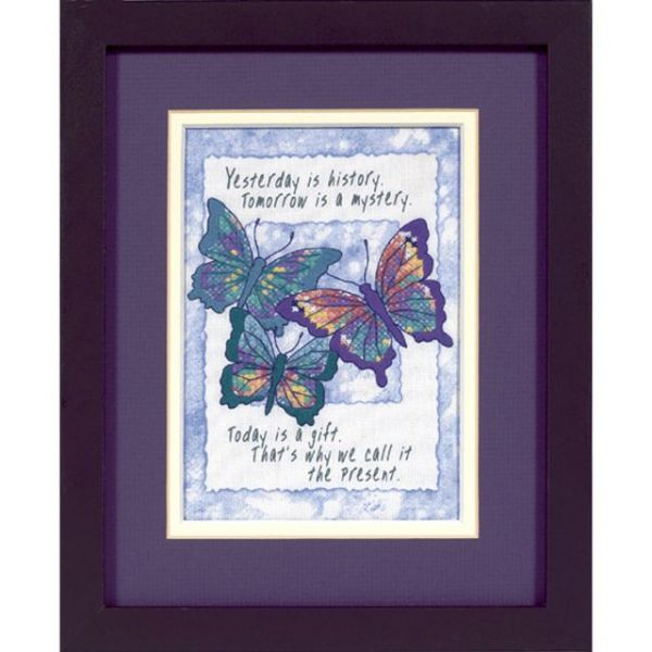 Dimensions Jiffy Today Is A Gift Mini Stamped Cross Stitch Kit