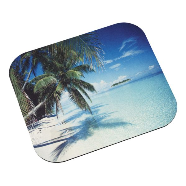 """3M Mouse Pad with Precise Mousing Surface, 9"""" x 8"""" x 1/8"""", Beach Design"""