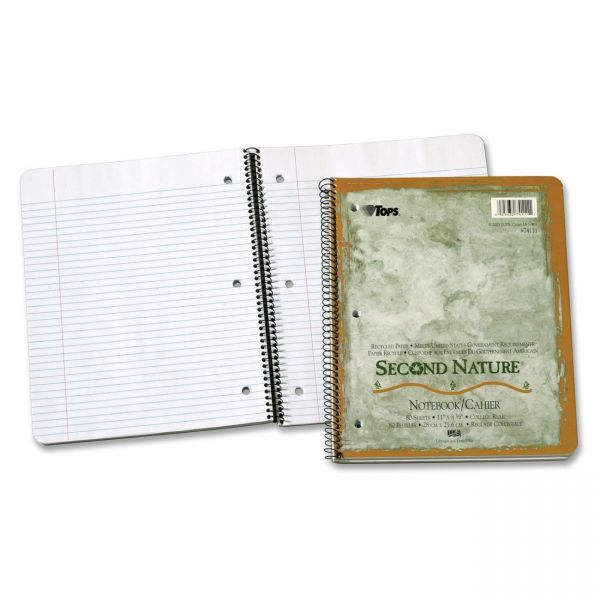 TOPS Second Nature College Ruled Spiral Notebook
