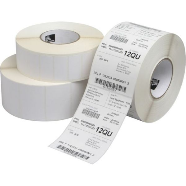 Zebra Label Paper 2.25x1.25in Direct Thermal Zebra Z-Select 4000D