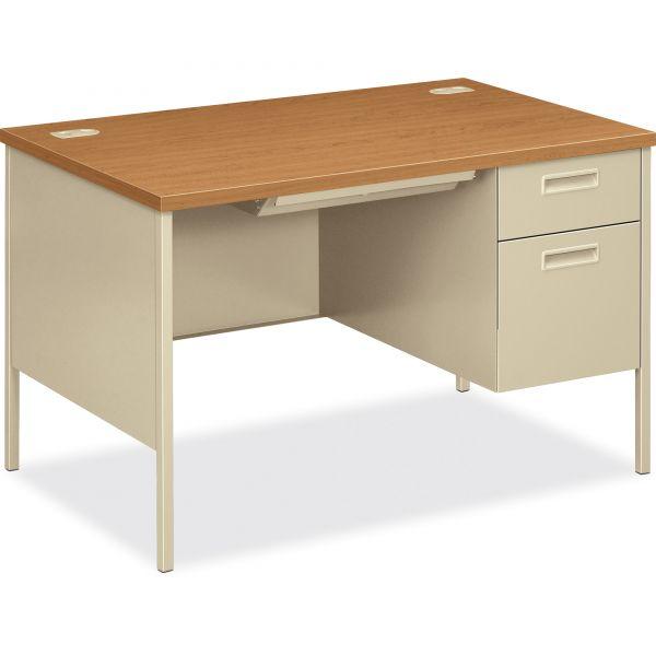 "HON Metro Classic Compact Right Pedestal Desk   1 Box / 1 File Drawer   48""W"