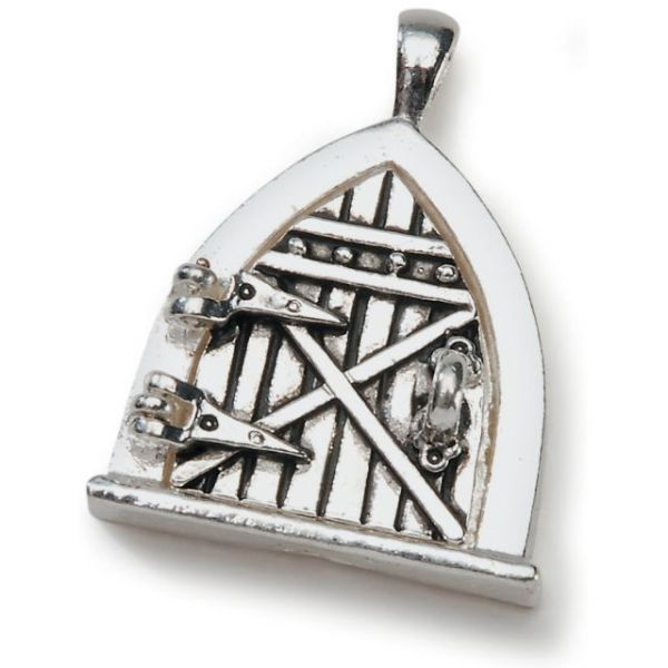 Fairy Door Metal Charm 1/Pkg