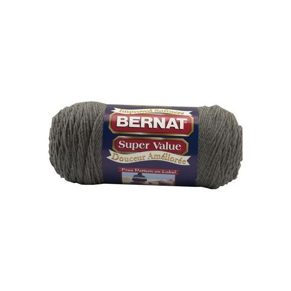 Bernat Super Value Yarn - True Gray