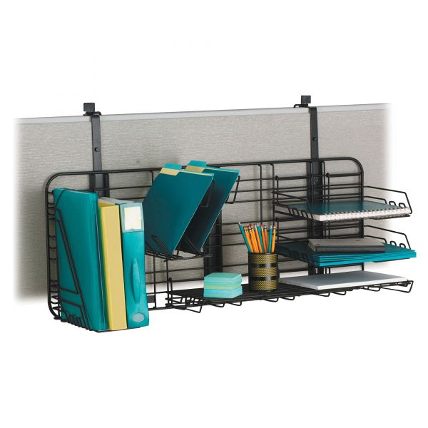 Safco GridWorks Compact Office Organization System, 38 x 15, Charcoal Gray