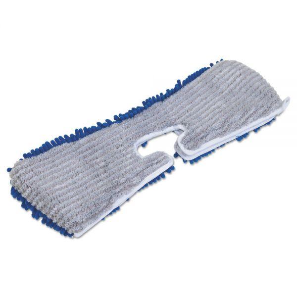 "Quickie Flip & Shine Microfiber Floor Mop Refill, 18"", Blue/Gray"