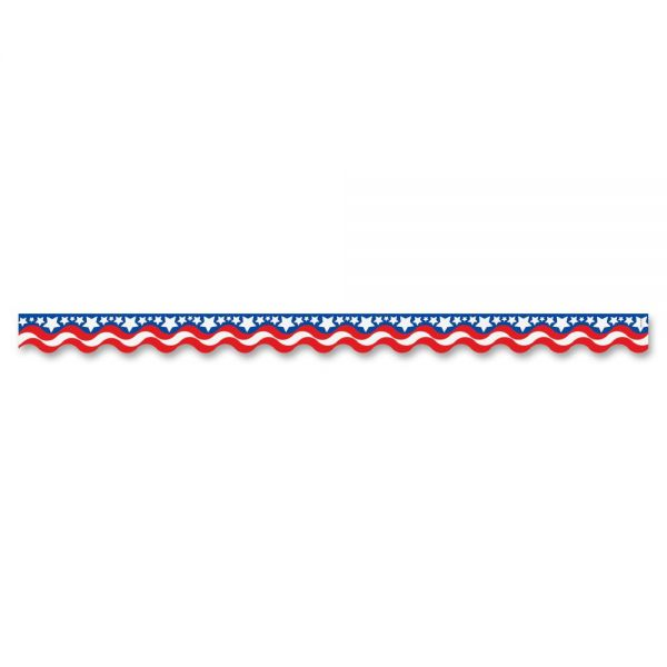 Teacher Created Resources Patriotic Scallpd Border Trim