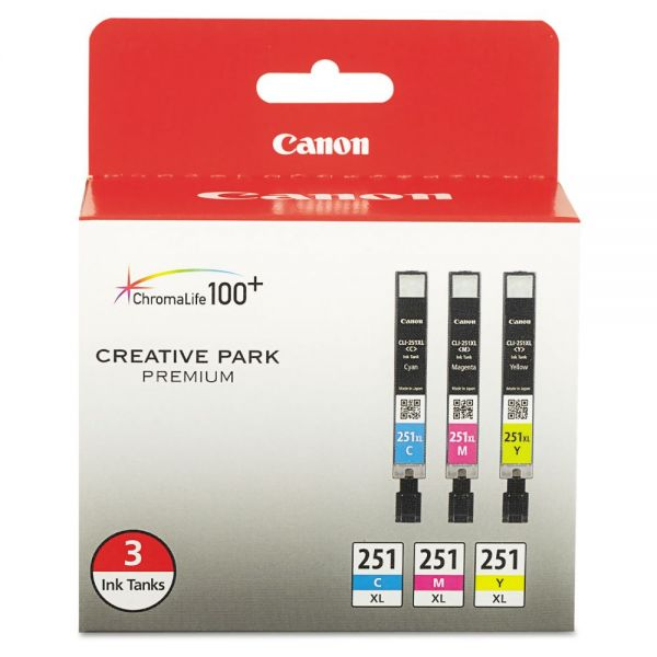 Canon CLI-251XL High-Yield Ink Cartridges (6449B009)