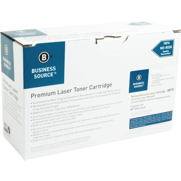 Business Source Remanufactured HP 51X (Q7551X) Toner Cartridge