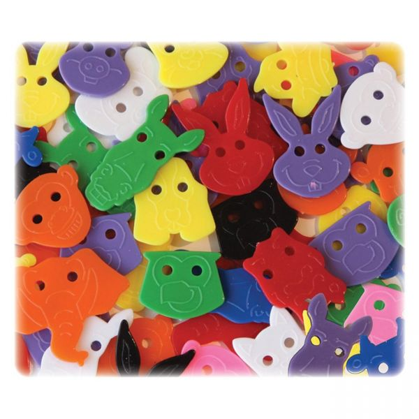 ChenilleKraft Delightful Animal Face Buttons