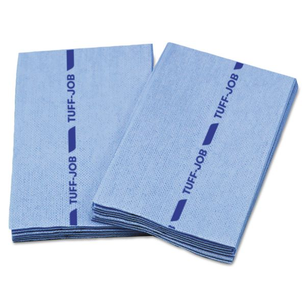Cascades PRO Tuff-Job Antimicrobial Foodservice Towels, Blue, 12 x 21, 1/4 Fold, 150/Carton