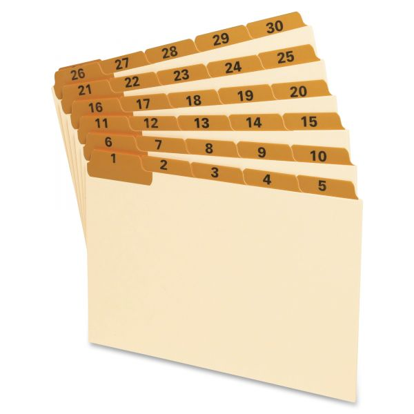 Oxford Daily Laminated Tab Index Card Guides