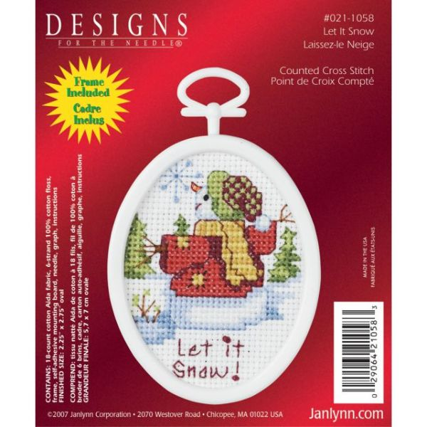 Janlynn Let It Snow Mini Counted Cross Stitch Kit