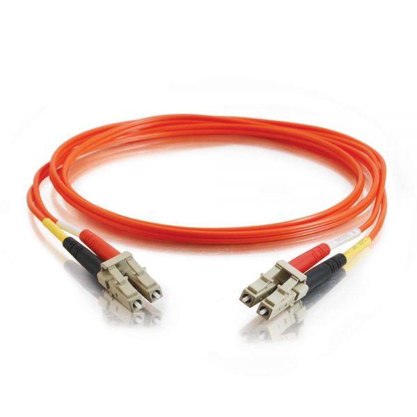 3m LC-LC 50/125 OM2 Duplex Multimode PVC Fiber Optic Cable - Orange