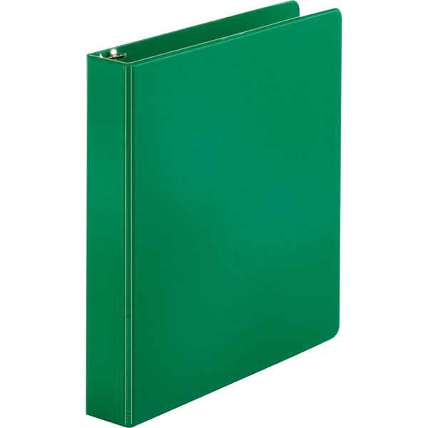 """Sparco 1 1/2"""" 3-Ring Binder, Letter Size, Round Ring, Green"""