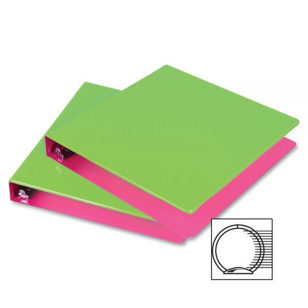 "Samsill Fashion Two-Tone 1"" 3-Ring View Binder"