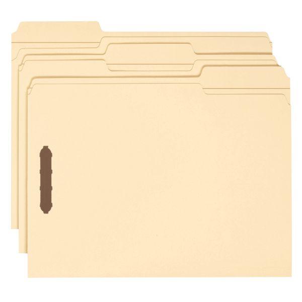 Smead Manila File Folders With Fasteners