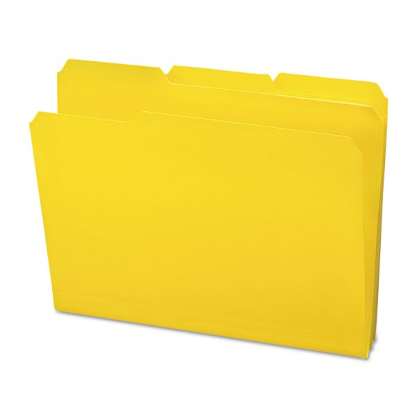 Smead Waterproof Poly File Folders, 1/3 Cut Top Tab, Letter, Yellow, 24/Box