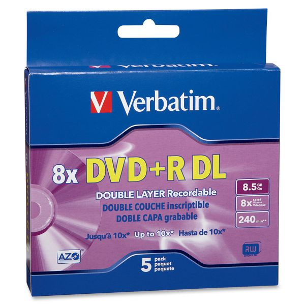 Verbatim Recordable DVD Media With Jewel Cases