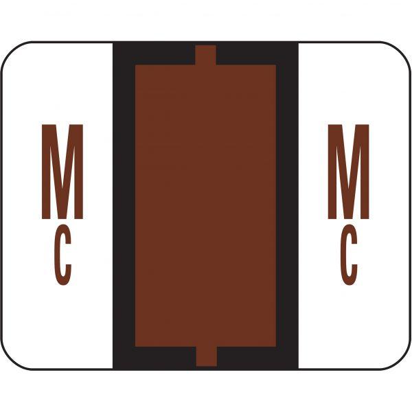 Smead BCCR Bar-Style Color-Coded Alphabetic Label - Mc